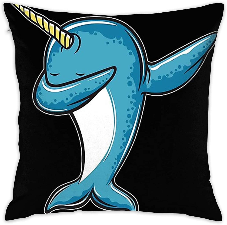 Baron Carter Unicorn Whale Dabbing Household Pillowcase Sofa Office Decorative Hold Pillow &Pillow Core