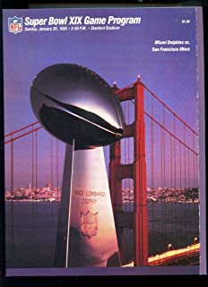 1985 Super Bowl XIX 19 Football Game Program Magazine NFL San Francisco 49ers vs. Miami Dolphins 1984 Season Stanford Stadium