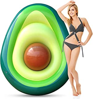 AERZETIX Inflatable Pool Float for Adults, Giant Avocado floaties with Ball, Large Water Rafts Float Toys Funny Pool Party Beach Swimming Lounger Decorations