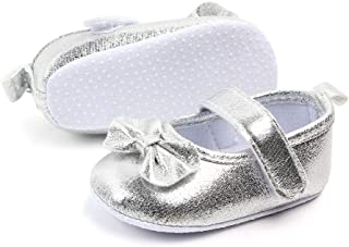 myppgg Baby Girls Mary Jane Flats Non-Slip Soft Sole Fashion Princess Crib Shoes for Toddler First Walkers