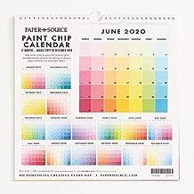 Paper Source 2019-2020 17 Month Paint Chip Calendar, 12 1/4