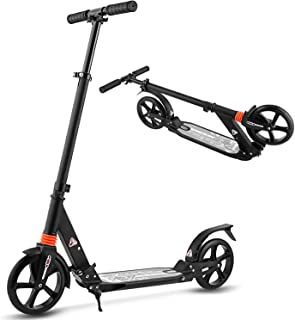 Aceshin Scooter for Adults,Teens,Kids, 200mm Big Wheels Kick Scooter Easy Folding Lightweight Height Adjustable Dual Suspe...