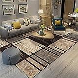 Tappetto tappeto per bambini cameretta Tappeto geometrico nero e giallo, soggiorno facile da pulire e lavabile oggetti per la camera ragazza tappeti bambini cameretta 180*250cm