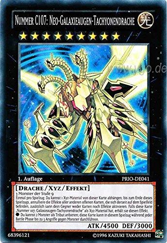 PRIO-DE041 Nummer C107: Neo-Galaxieaugen-Tachyondrache 1. Auflage im Set mit original Gwindi Kartenschutzhülle