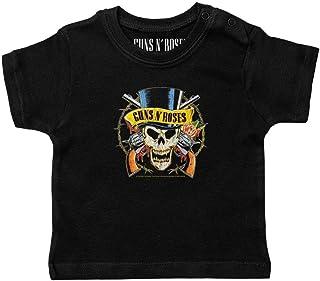 """Metal Kids Guns """"n Roses Tophat - Baby T-Shirt, Schwarz, Größen von 56 bis 86 0 bis 24 Monate, offizielles Band-Merch"""