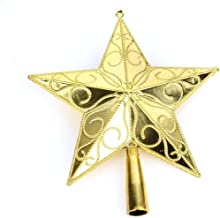 APSAMBR-3D Glitter Star Christmas Tree Topper Decoration Hanging Christmas Treetop Star Ornament for Christmas Celebration