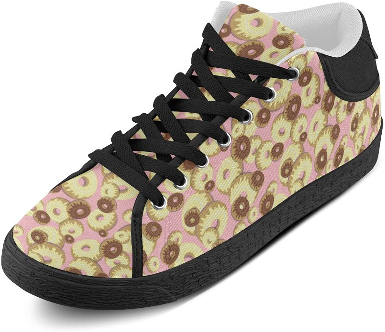 Mönster för Cerlyruan Donuts duk duk duk Chukka herrar skor svart  80% rabatt