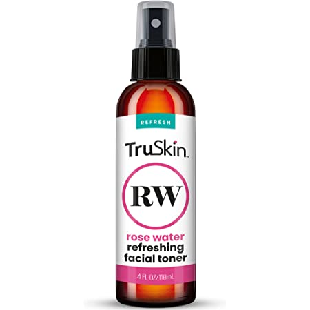 TruSkin Rose Water Facial Toner Spray, Face Care Mist for All Skin Types, Daily Skin Care, 4 fl oz