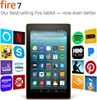 "Fire 7 Tablet with Alexa, 7"" Display, 8 GB, Canary Yellow - with Special Offers"
