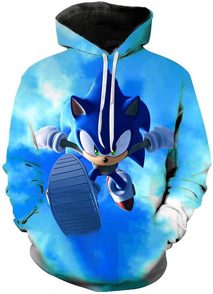 Yuanou Pullover 3D Sonic Hedgehog for Children//Unisex//Adolescence