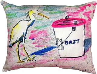 "Betsy Drake NC531 Hungry Egret No Cord Pillow, 16"" x20"""