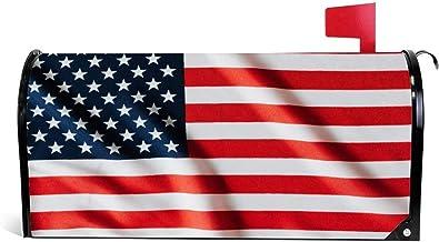 happygoluck1y Flattering Vlag van Verenigde Staten van Amerika Mailbox Cover Magnetische Seizoensgebonden Kerst Winter Mai...