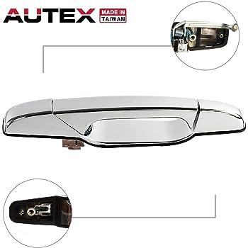 Amazon Com Autex Door Handle Exterior Rear Right Passenger Side Door Handle Chrome Compatible With Escalade Silverado Sierra 1500 2500 3500 Tahoe Yukon 2007 2014 Door Handle 80547 Automotive