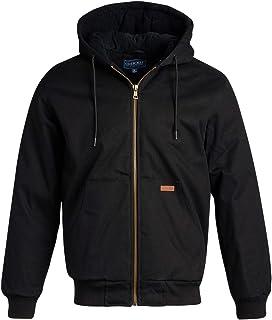 CHEROKEE Men's Workwear Outerwear – Duck Canvas Heavyweight Hooded Jacket (Plus