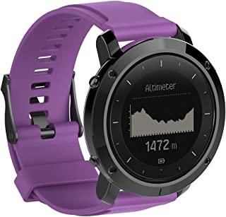Consumer Electronics Silicone Wrist Strap for SUUNTO Traverse (Black) (Color : Purple)