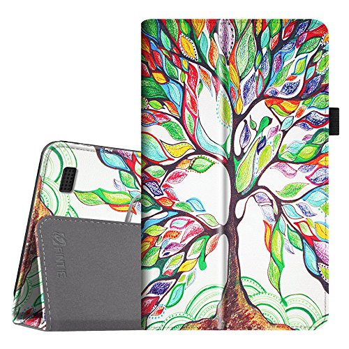 Fintie Folio Case for Amazon Fire 7 Tablet (Previous Generation - 7th, 2017 Release) - Slim Fit PU Leather Standing Protective Cover Auto Wake/Sleep, Compatible with Fire 7 (5th Gen, 2015), Love Tree