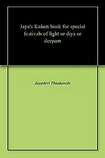 Jaya's Kolam book for special festivals of light or diya or deepam