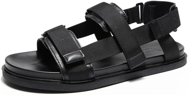 Sandals MAZHONG Men's Summer Sports Casual Slippers Velcro Men's shoes (color   Black-EU40 UK7 CN41)