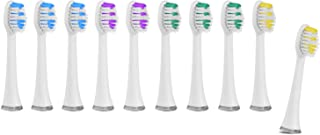 SimpliSonic Replacement Heads for SIMPLI101 White Sonic Toothbrush (10-Pack)