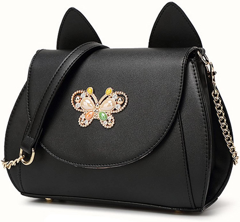 G&T Korea Style New Kitten Female Bag ThreeDimensional Cute Cat Ear Inclined Shoulder Bag Lady Bags Handbag