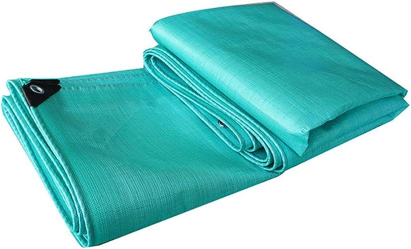 BAICHEN Bache Robuste Polyéthylène tissé à Haute densité de Tissu imperméable d'épaississement pour l'usage extérieur 180g   m2 0.34mm,5  7m