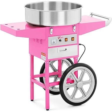 Royal Catering Machine à Barbe à Papa Professionnelle RCZC-1200-W (diamètre de la cuve 52 cm, 1.200W, rendement horaire 1 unité/60s, 95x52x89cm, avec couvercle de protection)