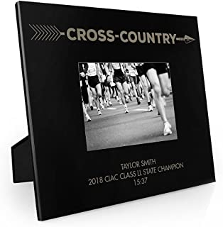 Personalized Arrow Cross Country Frame | Engraved Cross Country Picture Frame by ChalkTalk Sports | Horizontal 5X7