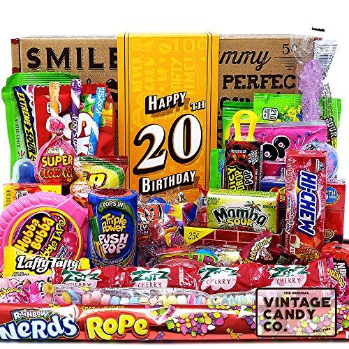 VINTAGE CANDY CO. 20TH BIRTHDAY RETRO CANDY GIFT BOX - 2001 Decade Childhood Nostalgia Candies - Fun...