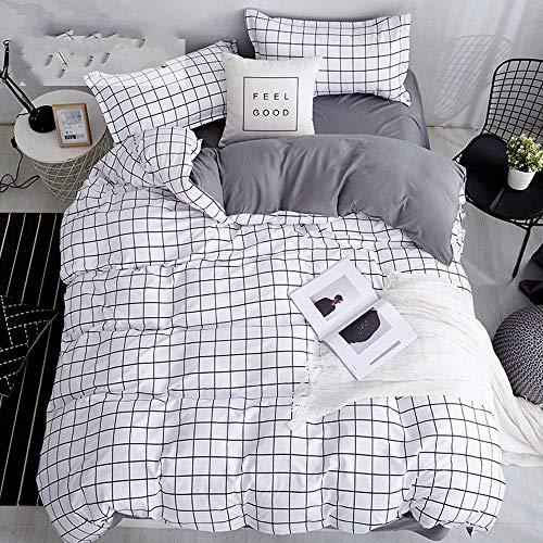 Hbvvaceo Bedding Duvet Cover 3D HD Simple white lattice Print Quilt Polyester Fiber Suitable for Men and Women Kids (Single 135 x 200 cm) Children's bedding set-baby bedding set