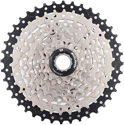 DishyKooker - Rueda última intervensión para Bicicleta de montaña 8S/9S 25 28 32 40 42T MTB, Volante de 8 9 velocidades para Shimano Sram (Negro y Plateado, 8 velocidades 40T)