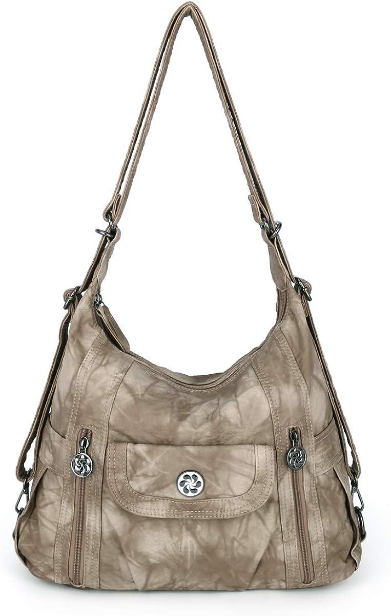 Women Handbags Shoulder Bags Washed trend rank Leather Bag Mut Satchel Tote 2021 model