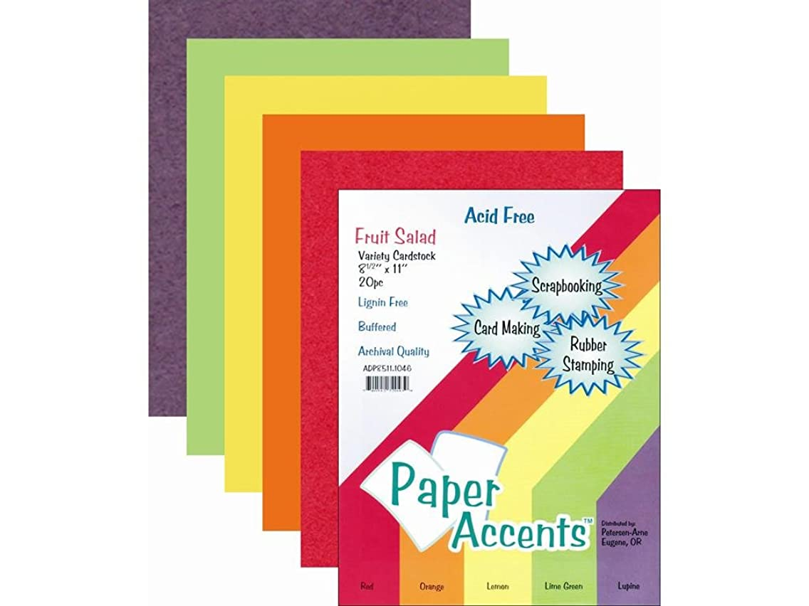 Accent Design Paper Accents PaperVarietyPk851120FruitSalad Paper