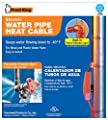 Frost King Electric Water Pipe Heat Cable 24ft Built-in Power Indicator Light