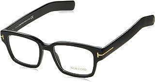 Tom Ford FT 5527 001 Black Plastic Square Eyeglasses 50mm