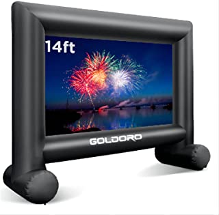 GOLDORO 14ft Outdoor Projector Screen - Inflatable Movie Screen Outdoor Projection Screen for Party Games Home Theater Cin...
