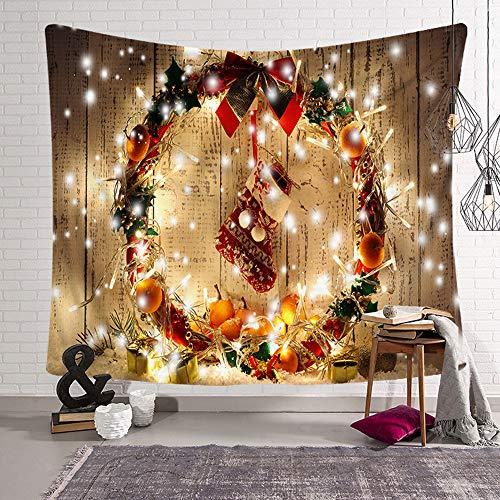タペストリー クリスマス お洒落なインテリア雑貨 お正月飾り 玄関 暖かいタペストリー 壁掛け(230X 180,模様3)