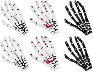Korean Style Gothic Skeleton Hands Bone Hair Clips - Black and White Fashion Punk Rock Devil Claw Alligator Barrettes Wome...