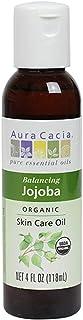 Aura Cacia Organic Jojoba Skin Care Oil | GC/MS Tested for Purity | 118ml (4 fl. oz.)