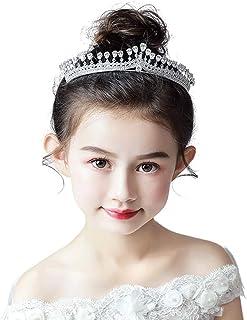 RKY Ragazze Corona, Bambini Ragazza Copricapo Corona Principessa Girl Corona Cristallo Ragazza Tornante Fiore Accessori fo...
