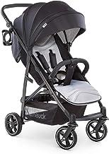 Hauck Rapid 4S silla de paseo hasta 25 kg con respaldo reclinable desde nacimiento, capota extra grande, manillar ajustable en altura, plegable con una mano, portavasos, negro gris
