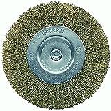 Bellota 50807-100 Cepillo BRICOLAGE Circular Acero LATONADO, Alambre Ondulado, DIAMETRO 100MM, Standard, 100 mm