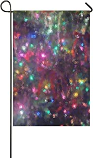 MOVTBA Home Decorative Outdoor Double Sided Christmas Xmas Lights Tree Effects Tassel Garden Flag,House Yard Flag,Garden Yard Decorations,Seasonal Welcome Outdoor Flag 12 X 18 Inch Spring Summer Gift