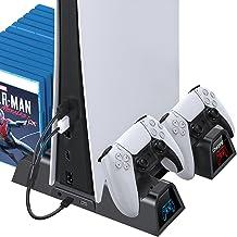OIVO Estação de resfriamento para PS5 com carregador, suporte para ventilador de refrigeração PS5 e carregador com sistema...