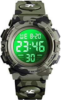 Kids Watch boy Multi Function 50M Sports Waterproof Led with Alarm Wrist Stopwatch 12H/24H Watches for Boy Girls Digital C...