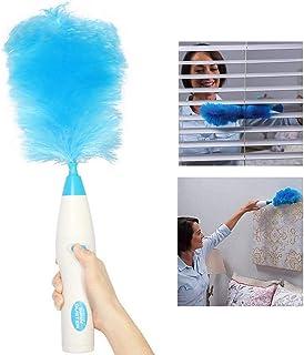 WSYK Plumero Eléctrico 180 Grados Microfibra Plumero con Poste De Extensión Lavable Plumero para Limpieza De Techo Ventilador, Persianas, Telarañas - Azul