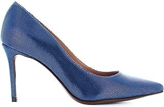 L'Autre Chose Women's Shoes Light Blue Canneté Pump Spring Summer 2018