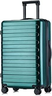 GLJJQMY Trolley Case Pc Trolley Case Custom Mute Caster Password Customs Lock Luggage 20 Inch Boarding Suitcase Trolley case (Color : Dark Green, Size : 24 inches)