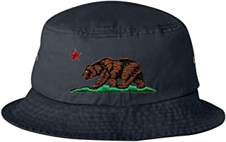 85390d805134d Go All Out Adult California Republic Bear Embroidered Bucket Cap Dad Hat