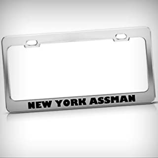 Flag Spain Funny License Plate Frame Metal Chrome Cute License Plate Cover for Women,Novelty Gifts Car Tag Holder Fan Shop Auto Accessories