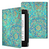 Fintie Folio Case for Kindle Paperwhite (Fits All-New 10th Generation 2018 / All Paperwhite Generations) - Book Style Vegan Leather Shockproof Cover with Auto Sleep/Wake, Shades of Blue